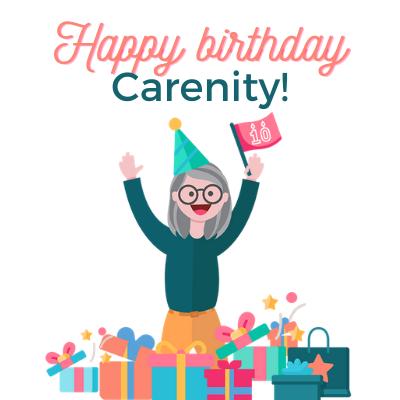 Carenity logo celebrating 10th anniversary